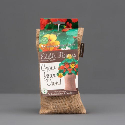 Nasturtium seed sprout bag